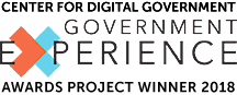 2018 Government Experience Award logo