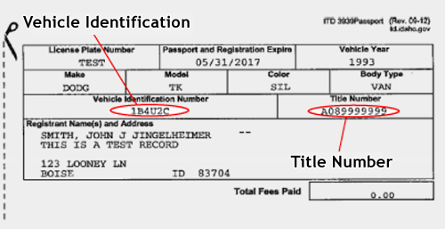 Vehicle Registration and Title Information Home Page