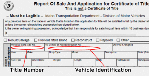 Where Is Vehicle Identification Number On Registration