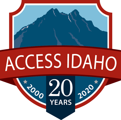 Access Idaho 20 year logo