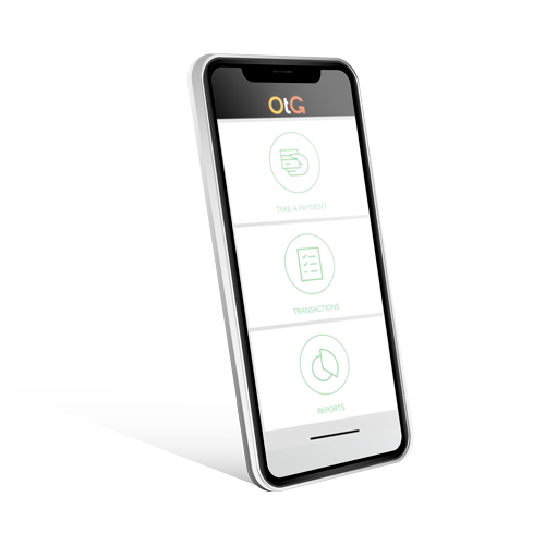 OTG Pay screen on a cell phone