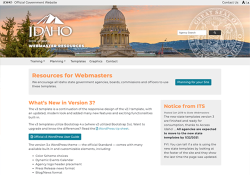 Idaho webmaster resources website home page